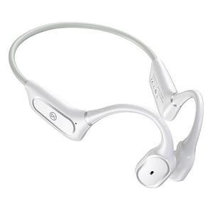 Bluetooth 5,0 наушники костной проводимости гарнитуры смарт-пресс Беспроводные наушники с микрофоном IPX5 водонепроницаемые наушники белые