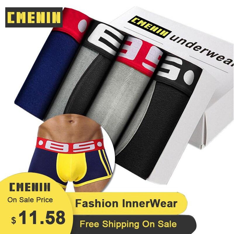 4Pcs BS Sexy Men Underwear Mens Boxer Trunks Gay Penis Pouch Sleepwear High Quality Men's Underwear Boxer Short Cuecas Lingerie