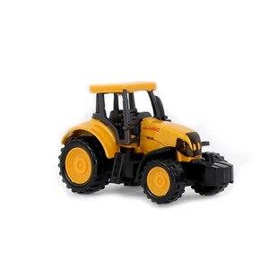 Image 2 - هندسة صغيرة سبيكة سيارة جرار لعبة شاحنة قلابة نموذج كلاسيكي سيارات لعبة للأطفال الصبي هدية سيارة أطفال اكسسوارات 8 أنماط