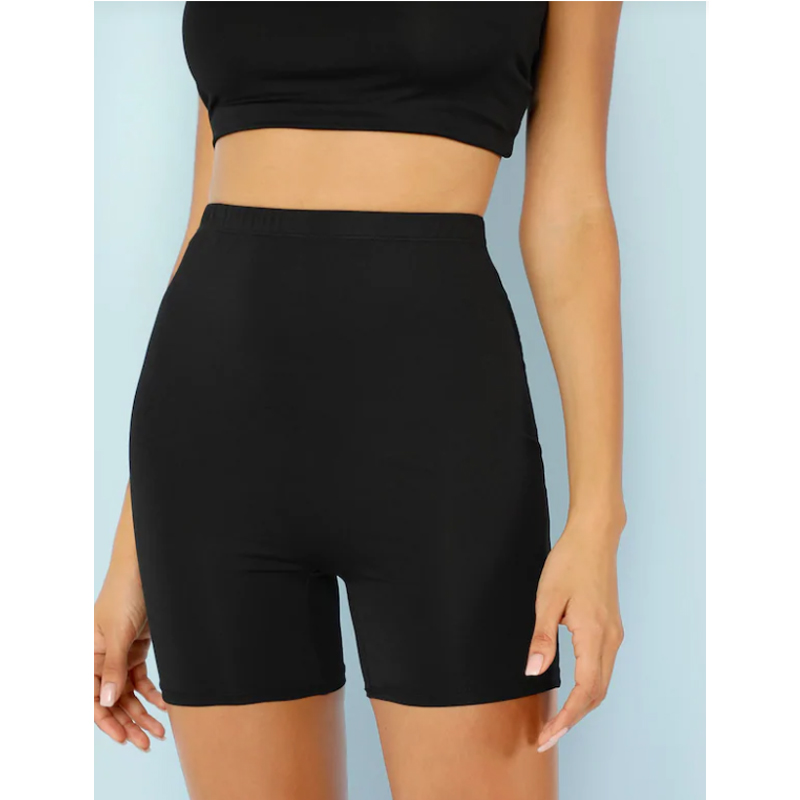 Meihuida Women Stretch Skinny Biker Bike Shorts Elastic High Waist Hot Short Fitness Workout Leggins Knee Length Shorts Gym Wear