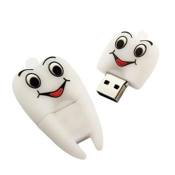 Mini Cute tooth Cartoon Usb Flash Drive 32GB Pen Drive High Speed 2.0 Usb Stick Pendrive 4GB 8GB 16GB 64GB 128GB 256GB U Disk цена 2017