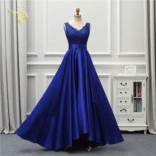 Jeanne aşk seksi gece elbisesi 2020 yeni Backless v yaka kraliyet mavi aç geri dantel Robe De Soiree Vestido De Festa OL5245 parti
