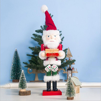 New Christmas Ornaments 2019 Wood Painted 40cm Santa Claus Ornaments Table Set In Stock Merry Christmas Decorations For Home