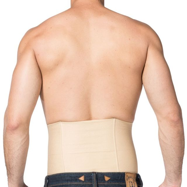 Mens Slimming Belt Waist Trainer Shapewear Back Support Band Fat Burner Sweat Trimmer Body Shapers Tummy Cincher Corset 4
