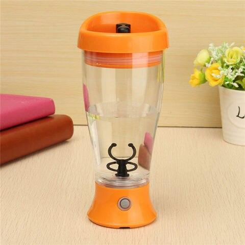 Fitness Sports Water Bottle 350ml Electric Protein Powder Shaker Bottle Coffee Milk Juice Shake Automatic Stir Jar Blender Karachi