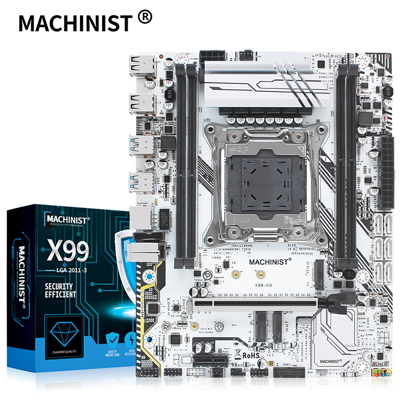 MACHINIST X99 motherboard LGA 2011 3 with dual M.2 Support four channel DDR4 ECC/NON ECC RAM E5 2678 V3 E5 2620 2650 V3 X99 K9|Motherboards| - AliExpress