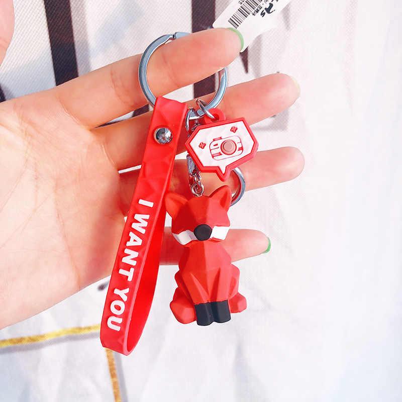 เรขาคณิตภาพสัตว์ Key CHAIN Auto Hang ผู้ชายและกระเป๋าถือผู้หญิงอุปกรณ์เสริม