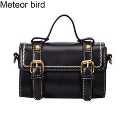 Meteoro pássaro pequeno preto boston bolsa de ombro feminina pequenas bolsas senhoras crossbody saco do mensageiro