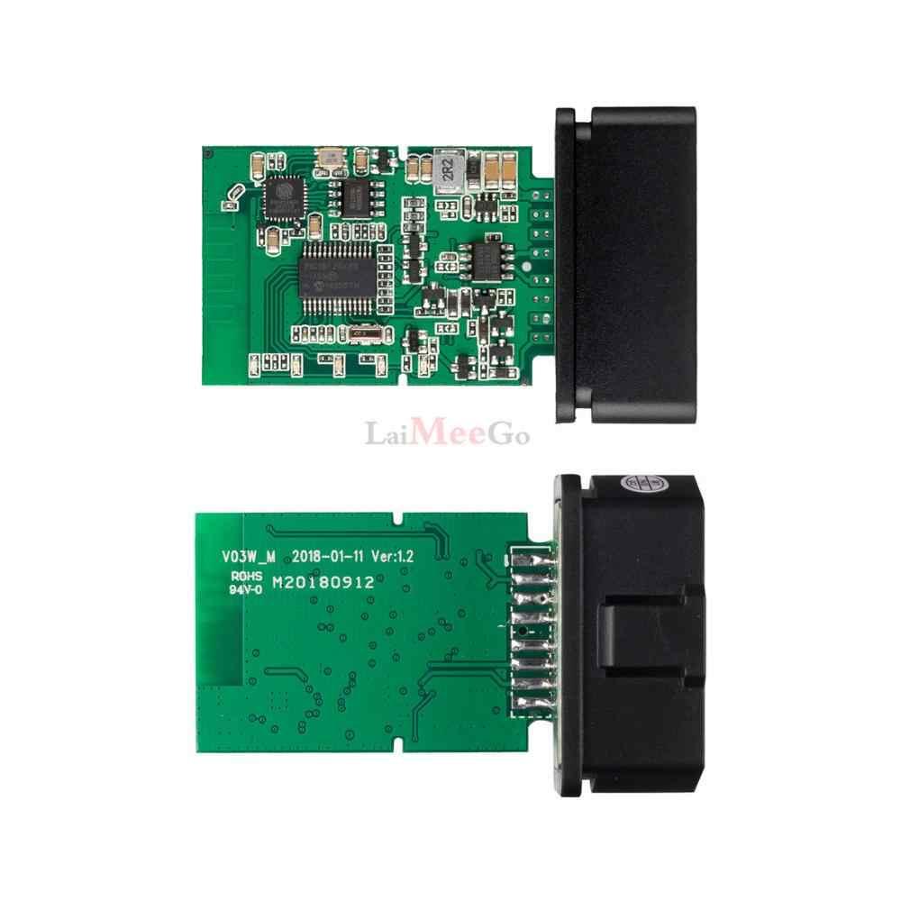 ELM327 Wifi Bluetooth V1.5 PIC18F25K80 Chip OBDII Công Cụ Chẩn Đoán Iphoneandroidpc ELM 327 V 1.5 ICAR2 Tự Động Quét Mã