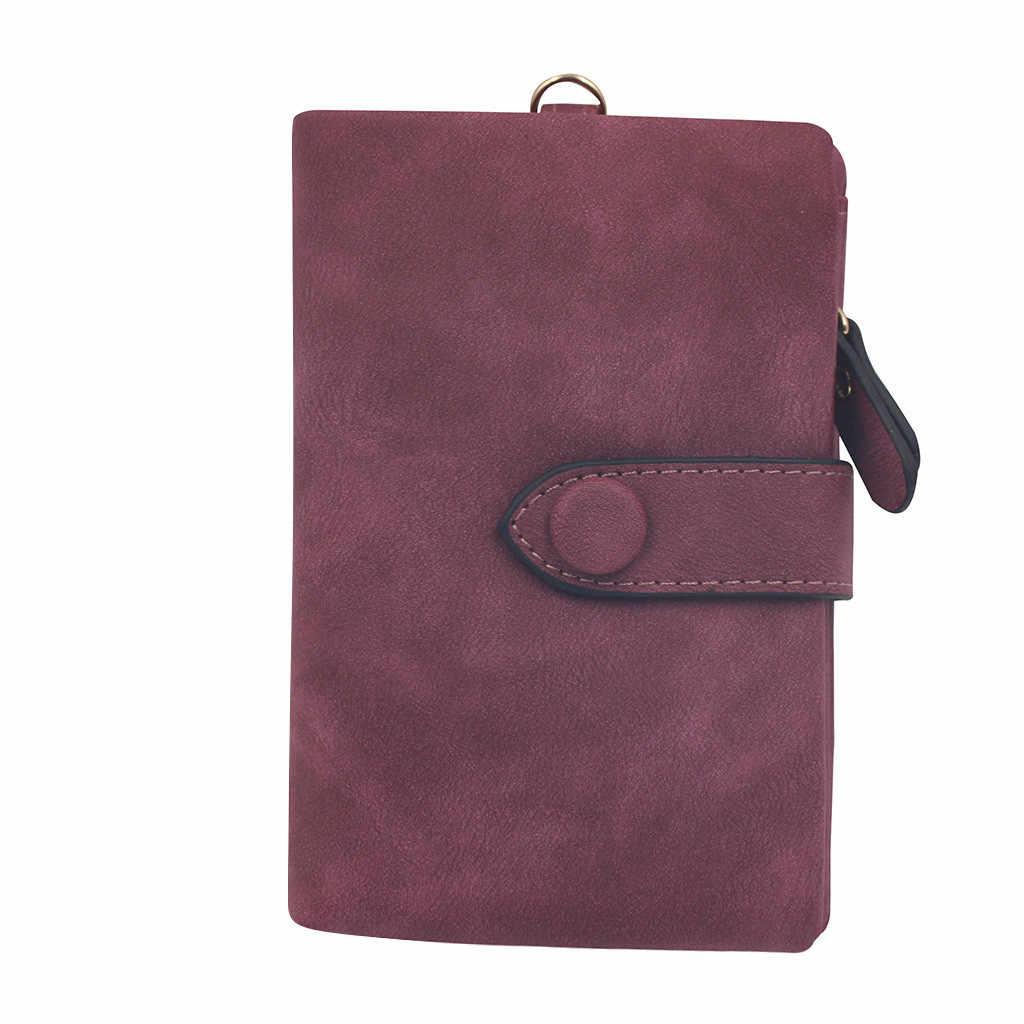 2019 ファッション女性ショート財布 Pu レザースモールクラッチ財布カードホルダーハンドバッグかわいいトライ倍マルチカード女性ショート財布