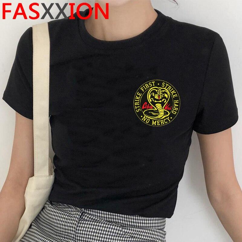 Cobra Kai T Shirt Homens Primeira Greve Greve Dura No Mercy Tshirt Camisas de Verão Top Camisetas Mangas Curtas Tees Cobra Imprimir T-Shirt