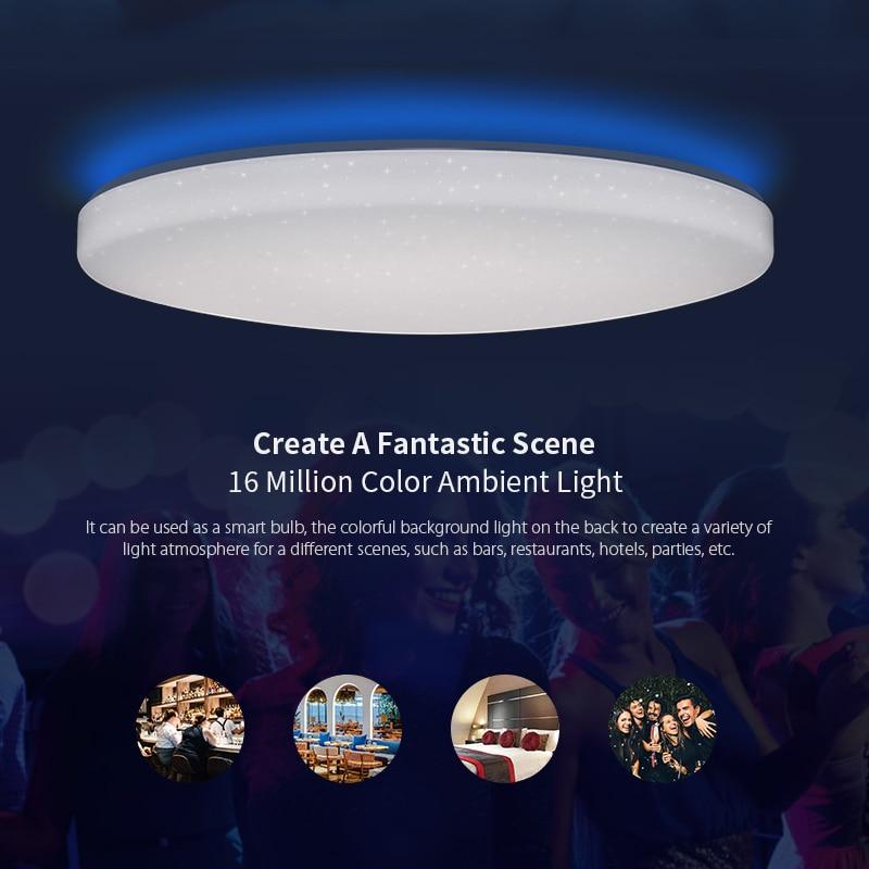 Yeelight jiaoyue 650 led inteligente luz de teto wifi bluetooth controle app com rgb lâmpada ambiente 50 w apoio alexa google casa - 3