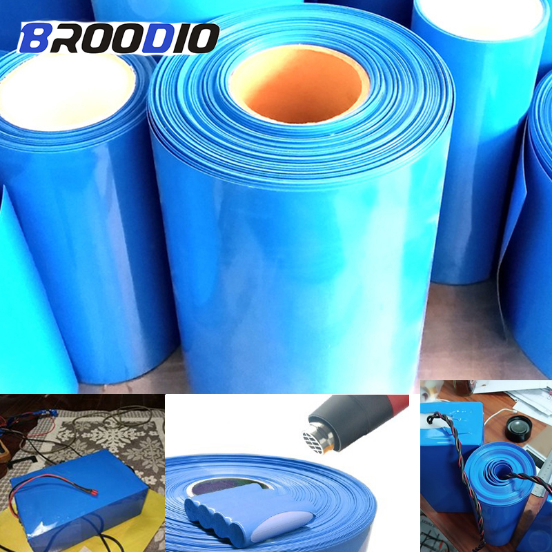 30mm-170mm 18650 Lithium Battery Heat Shrink Tube Tubing Wrap Cover Skin PVC Shrinkable Film Tape Sleeves Wrap Skin Accessories