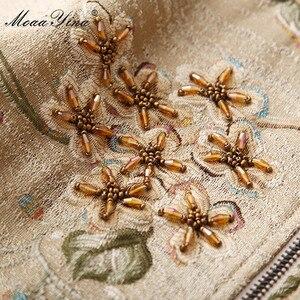 Image 3 - MoaaYina yüksek kalite moda ceket ceket sonbahar kadın çiçek boncuk zarif kısa ceket ceket