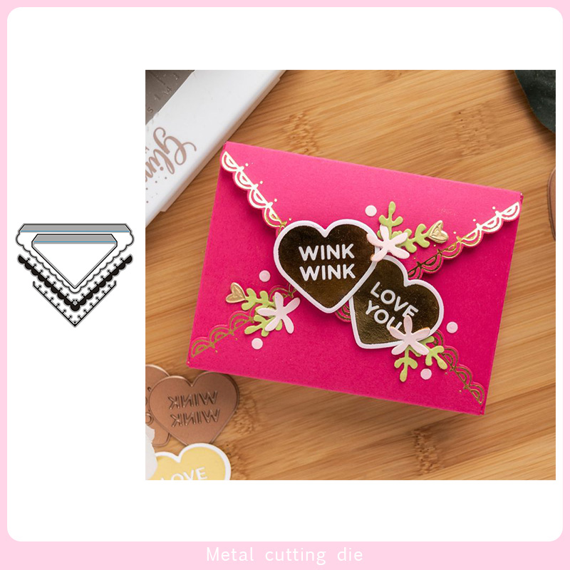 Envelope Assembly Set Metal Cutting Dies For DIY Scrapbooking Photo Album Decorative Embossing PaperCard Crafts Die Cut 2020