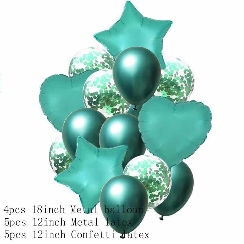 1 SET 18inch Metallic Star Palloncini di Cuore Coriandoli Festa di Compleanno Aria Palloncino di Elio Decorazione di Cerimonia Nuziale Festival di Balon Partito Palloncini