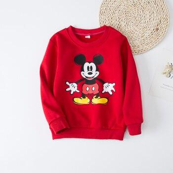 Polar Fleece Autumn winter New  Boy Girls sweatshirt mickey T-shirt Kids For Baby Boys Girls Long sleeve fleece Yellow duck 2-6