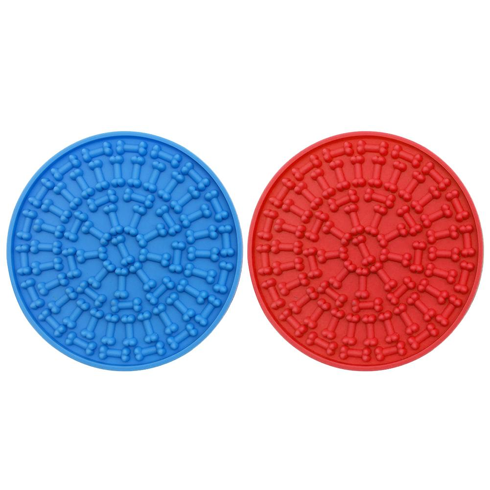 Silicone Dog Lick Pad Pet Dog Bath Buddy Slow Food Sucker With Powerful Suction Cup Pet Dog Bowl Lick Pad