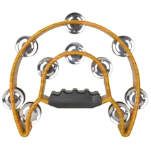 Hand-Bell Musical-Instruments Tambourine Half-Moon for Party Compact Drum Percussion