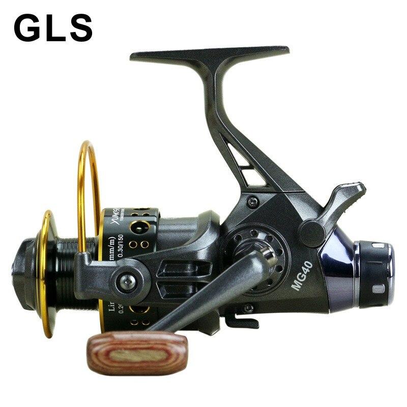 2020 GLS marka MG30-60 çift boşaltma metal kafa ön ve arka fren tam metal katlanır rocker İplik balıkçılık reel