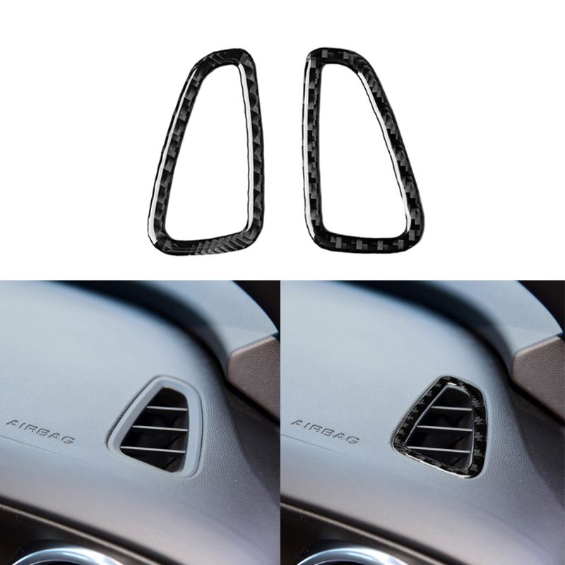 Instrument Panel Air Outlet Carbon Fiber Sticker For Chevrolet Camaro 57BA