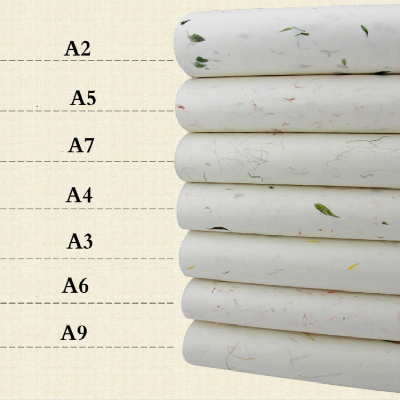 Calligraphy Paper Chinese Half-Ripe Xuan Paper With Flower Tea Grass Calligraphy Painting Rice Paper Rice Paper Decoupage