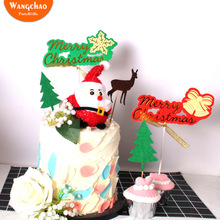 50pcs/set Merry Christmas Theme Cake Decoration Xmas Cupcake Topper Decorations for Home