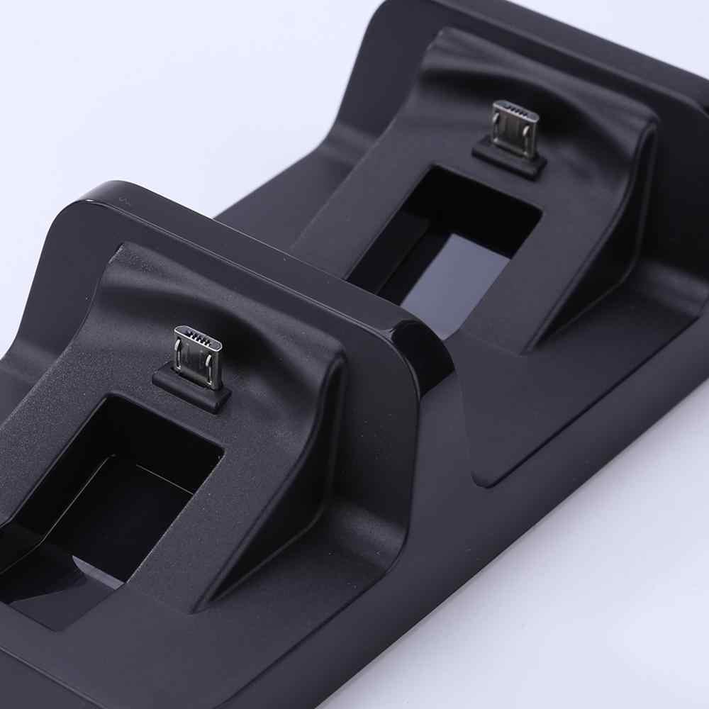 Kontrol kolu şarj Cradle braketi PS 4 çift USB şarj dok istasyonu standı PS4 PlayStation 4 oyun