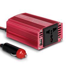 цена на Car Power Inverter 150W 300W 12V DC to 110V 220V AC Power Supply Adapter with Dual Charging Port Converter 12v Cigarette Lighter