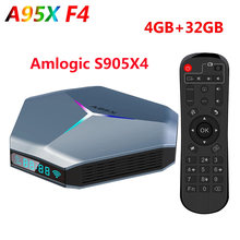 2021 A95X F4 RGB Amlogic S905X4 inteligentny Android 10.0 TV, pudełko 4K HD YouTube 4GB RAM 32GB 64GB 128GB ROM zestaw Wifi Top Box 2G 16G