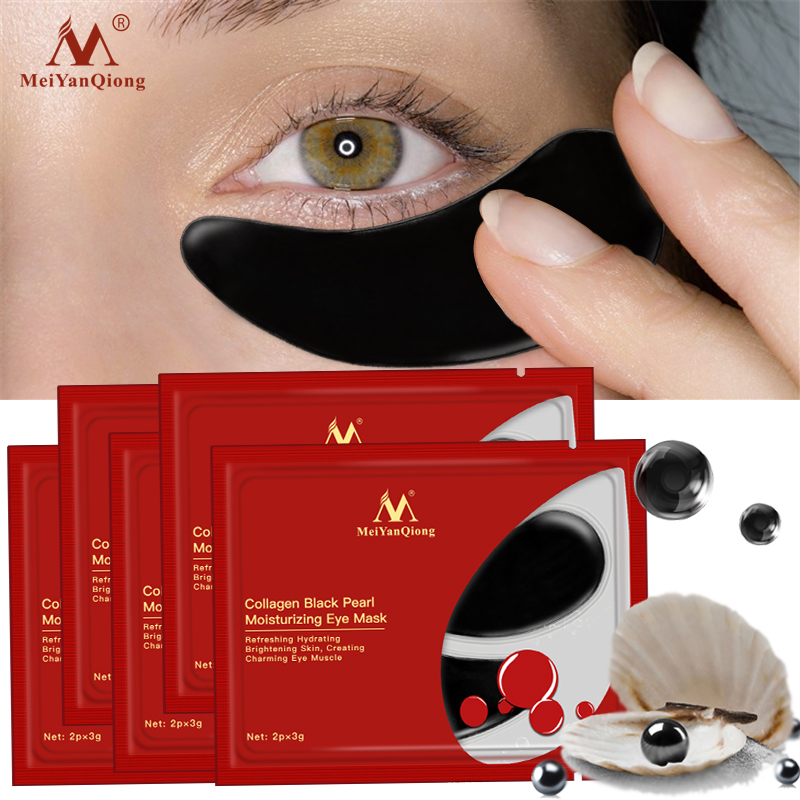 5pack Black Pearl Serum Eye Mask Collagen Anti-Aging Anti Wrinkle Remove Dark Circle Anti-Puffiness Eye Patches Skin Care