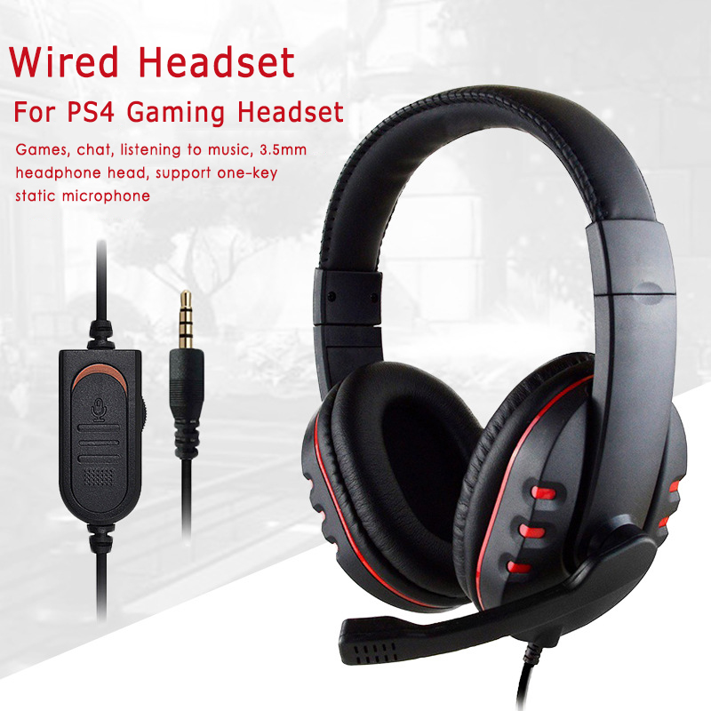 Suitable For PS4 / XBOX ONE / SWITCH / PS3 / PC Large Headphones Heavy Bass Eating Chicken Headphones