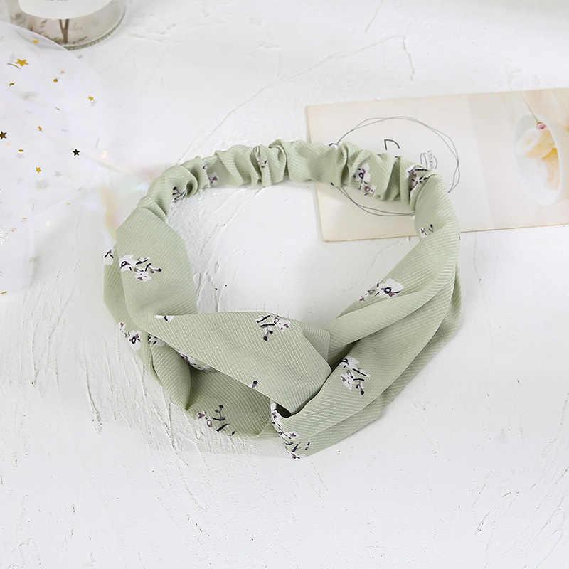2019 moda quente feminino acessórios para o cabelo turbante bandanas elástico flor estampas hairband bandas de cabelo goma para meninas