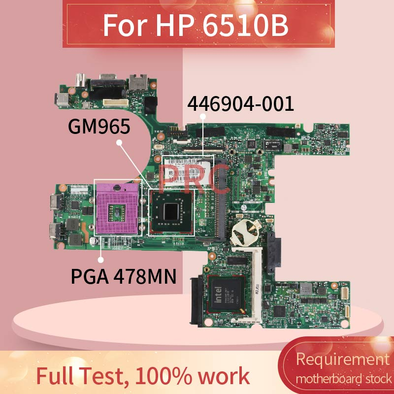 446904-001 446904-601 For <font><b>HP</b></font> <font><b>6510B</b></font> Laptop motherboard GM965 DDR2 Notebook Mainboard image
