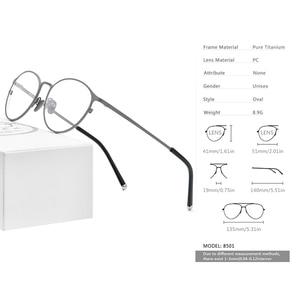 Image 3 - กรอบแว่นตา Titanium กรอบแว่นตา Vintage Vintage รอบแว่นตา Classic ออพติคอลยี่ห้อ Designer กรอบแว่นตาผู้หญิง 8501