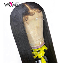 Wig Lace Closure Human-Hair Malaysian 4X4 Wome Straight for Lace-Wig 150 Long