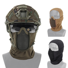 العسكرية Airsoft كامل الوجه قناع التكتيكية شبكة معدنية قناع واقية الصيد القبعات في الهواء الطلق اطلاق النار الألوان قناع القبعات