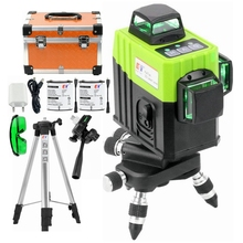 Kaitian 360 Laser Level Tripod Green 12 Line Self Leveling Vertical Horizontal Super Powerful Cross 3D Lasers Construction Tools