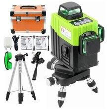 Kaitian 360 Livella Laser Treppiede Verde 12 Linea di Auto Livellamento Orizzontale Verticale Super Potente 3D Laser Strumenti di Costruzione