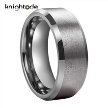 6mm 8mm Tungsten Wedding Bands For Men Women Couple Engagement Rings Beveled Edges Polished Matted Finish