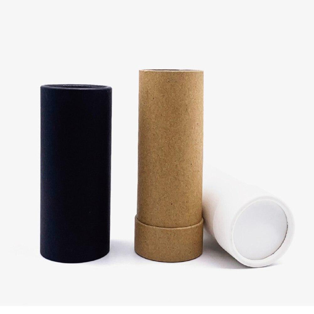 50 pièces vide papier coquille rouge à lèvres Tubes avec capuchon baume à lèvres Chapstick support maquillage à réaliser soi-même outils conteneur rechargeable