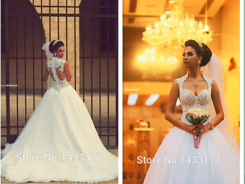 Vestido De Noiva Casamento Princesa 2015 Beautiful Sweetheart Appliqued Open Back Wedding Dresses Bridal Wedding Gowns