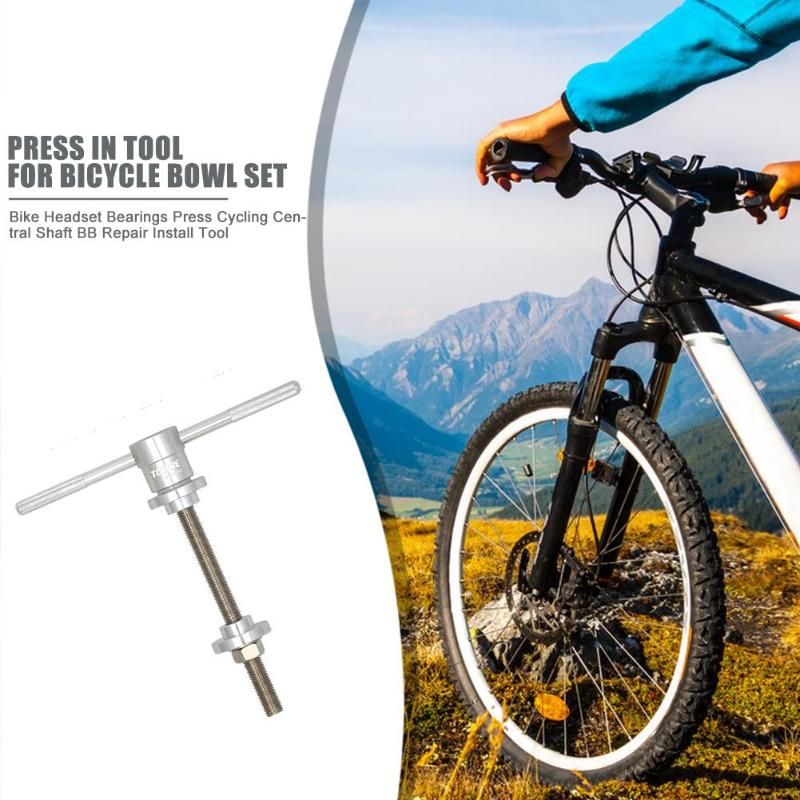 Bike Headset Bearings Press Tool Adapters Bicycle Central Shaft BB Installer