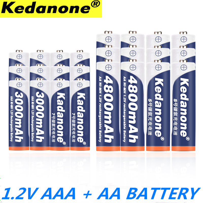 2020 NEW 1.2V 4800mAh NI MH AA Rechargeable Batteries+AAA Battery 3000 MAh Rechageable Battery NI-MH 1.2 V AAA Battery