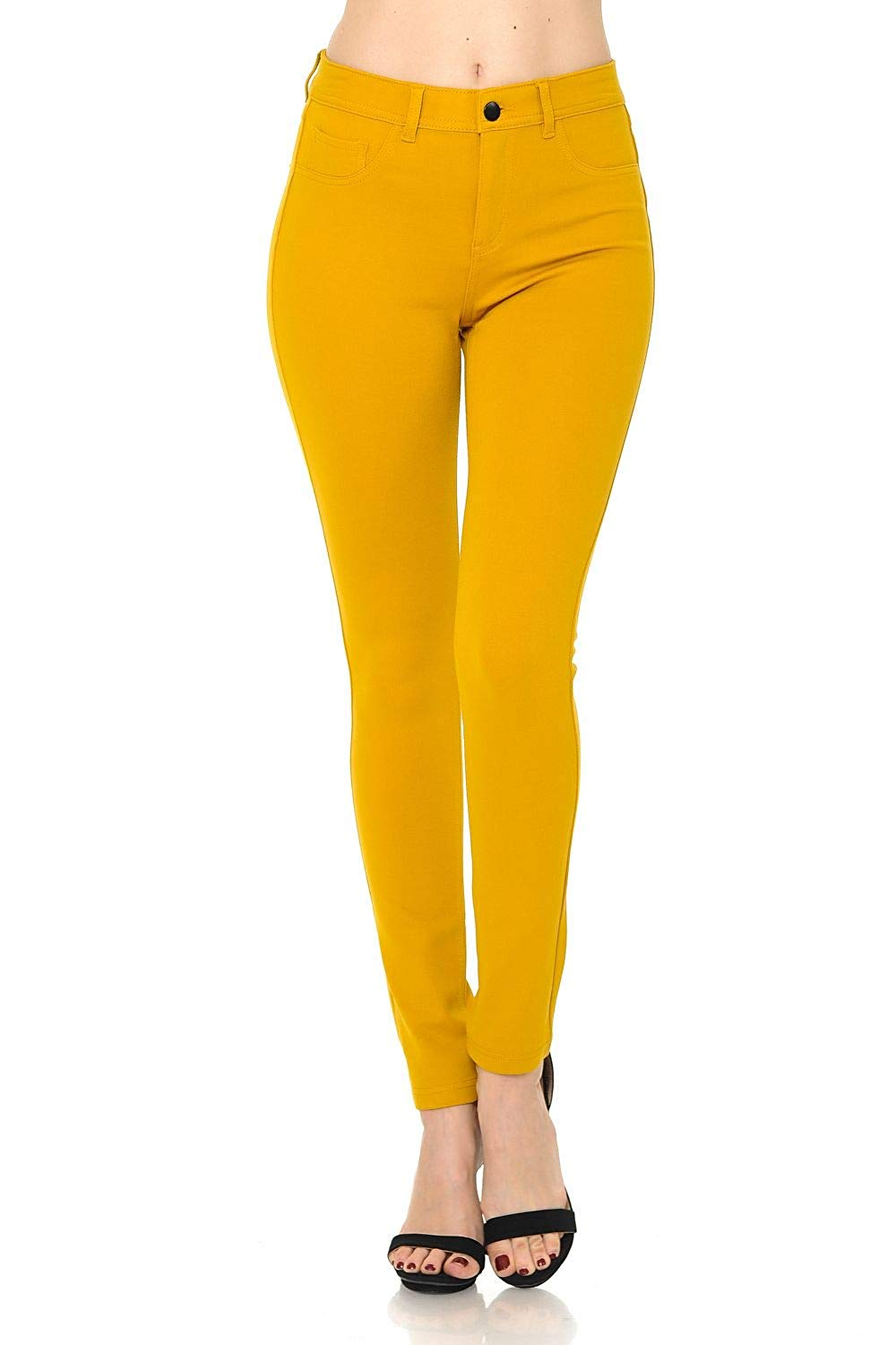 25 Pieces  Womens Solid Slim Fit Color Skinny Stretchy Ponte Pants Cargo Pants  Overalls  Straight