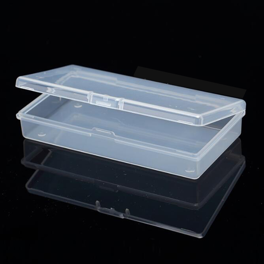 1pc Small Plastic Box Rectangular Transparent 12.2*6.2*2.3cm PP Storage Collections Container Box Case Sundries Plastic Box