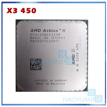 AMD Athlon II X3, 450, X3-450 GHz, Triple-Core, 3.2, prise ADX450WFK32GM, AM3 938pin