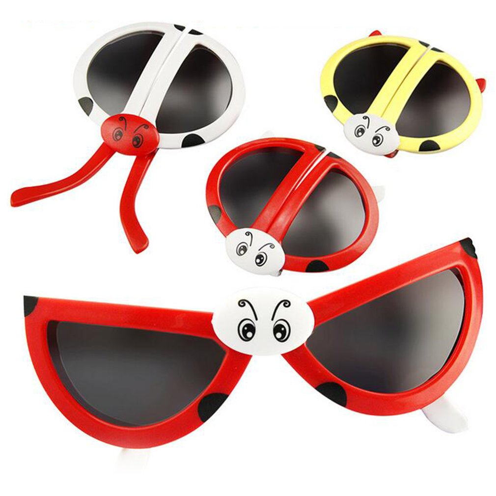 Cute Fashion Folding Ladybug Deformity Sunglasses Puzzles Toy Baby Toys For Birthday Gift For Kids