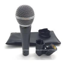 Microfone profissional karaoke estúdio gravação microfone dinâmico cápsula vocal handheld sem fio sm58s para estúdio casa