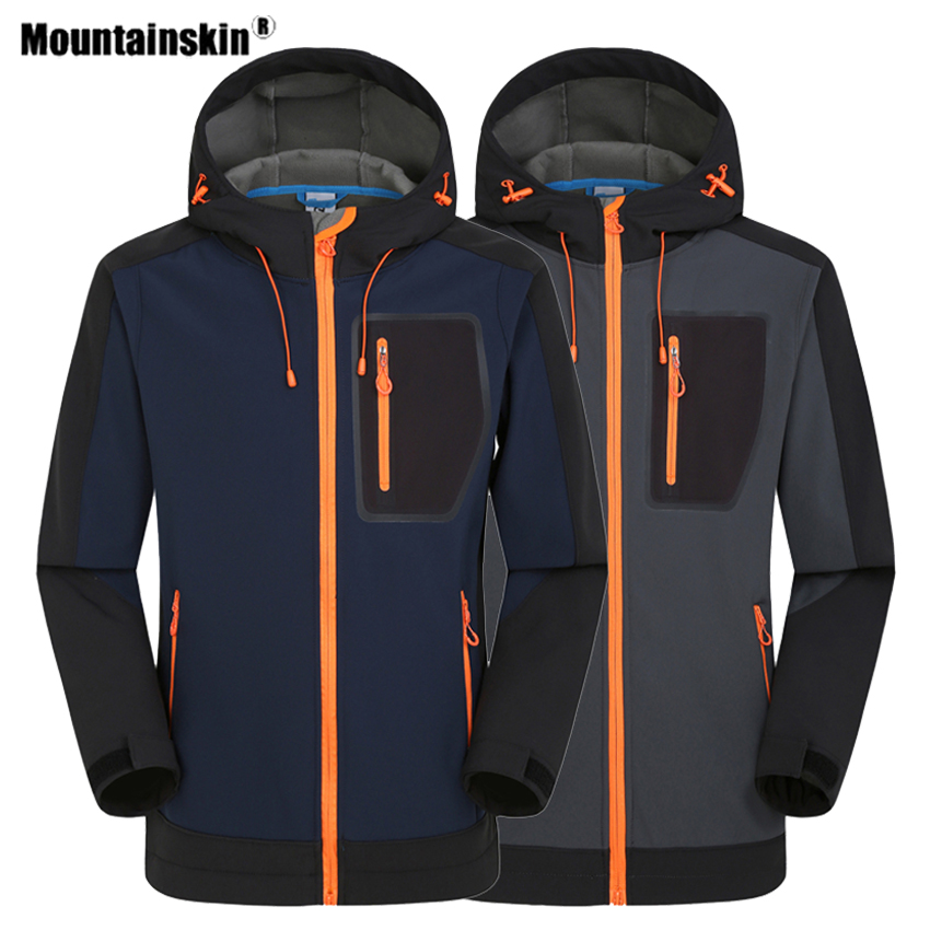 Mountainskin Men's Softshell Hiking Jackets Outdoor Sport Windproof Waterproof Climbing Windbreaker Trekking Camping Coats VA602